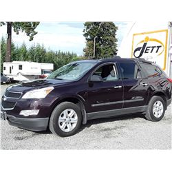 F2 --  2010 CHEVROLET TRAVERSE LS , Red , 224879  KM's