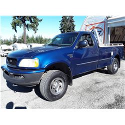 "A12G --  1998 FORD F150 4X4 , Blue , 321062  KM's  ""NO RESERVE"""