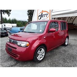 "A8 --  2009 NISSAN CUBE  , Red , 169488  KM's  ""NO RESERVE"""