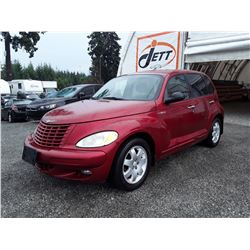"A4 --  2004 CHRYSLER PT CRUISER TOURING  , Red , 154593  KM's ""NO RESERVE"""
