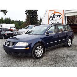 A12J --  2005 VW PASSAT GLS TDI , Blue , 408923  KM's
