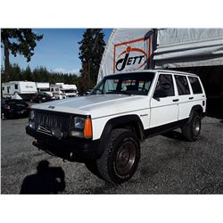 "A12C --  1990 JEEP CHEROKEE  , White , 221,185 MILES  KM's  ""NO RESERVE"""