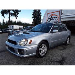 L5 --  2003 SUBARU IMPREZA WRX , Silver , 285458  KM's