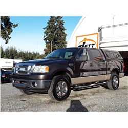 F6 --  2007 FORD F150 CREW CAB 4X4 , Brown , 268060  KM's