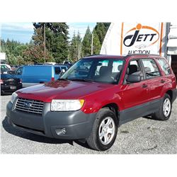 H3 --  2007 SUBARU FORESTER 2.5X  , Red , 132741  KM's