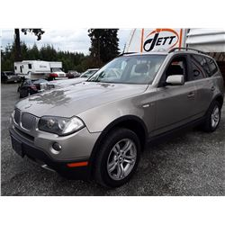 H4 --  2008 BMW X3 3.0I , Brown , 141225  KM's