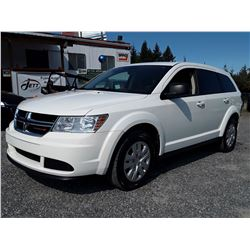 K6 --  2016 DODGE JOURNEY SE , White , 74471  KM's