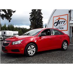 I4 --  2014 CHEVROLET CRUZE LS , Red , 122318  KM's