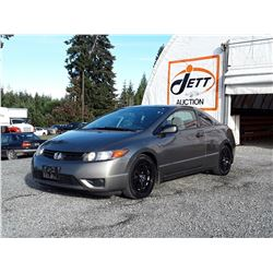 J4 --  2008 HONDA CIVIC DX  , Grey , 316649  KM's