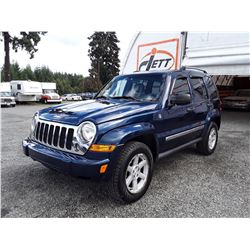 G2 --  2005 JEEP LIBERTY LTD  , Blue , 201711  KM's
