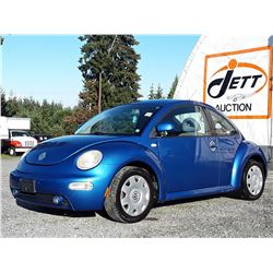 B2 --  2000 VW BEETLE  , Blue , 151489  KM's