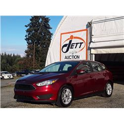 C6E --  2016 FORD FOCUS SE , Red , 100998  KM's