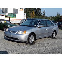 A4 -- 2003 HONDA CIVIC LX SEDAN, SILVER, 253,470 KMS