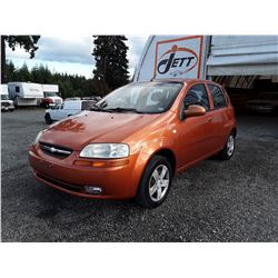 E4 --  2007 CHEVROLET AVEO  , Orange , 156782  KM's