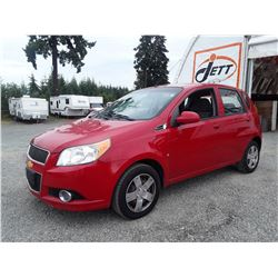 M5 --  2010 CHEVROLET AVEO LS , Red , 189047  KM's