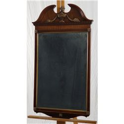 CHIPPENDALE WALL MIRROR, URN AND CORNUCOPIAS