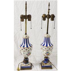 A'neut Enameled Cloisonne Lamps