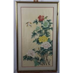 Asian Style Silk Painting Print
