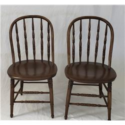 Windsor Spindle Back Wooden Chairs