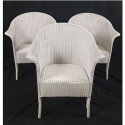 Lloyd Loom Wicker Outdoor Dining Set Chairs