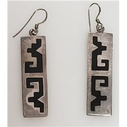 Vintage Mexico Taxco Sterling Silver Earrings.