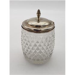 Rogers, Lunt & Bowlen Sterling Silver Lid & Condiment Jar