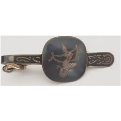 Siam Sterling Silver and Black Enamel Large Tie Clip