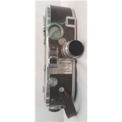 Keystone 16mm A-12 Criterion Deluxe Movie Camera with a Keystone Elgeet 1 inch f:1.9 Lens