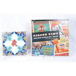 John Ringling Commerative Tile & A LP Record
