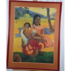 """""""Nafea Faaipoipo"""" by Paul Gauguin Painting Print on Canvas"""