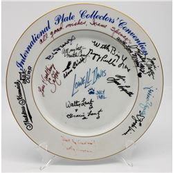 Numerous Autographed Collector Plate