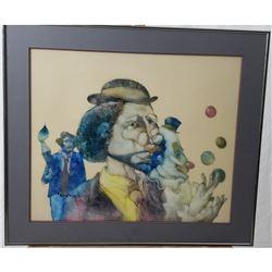 Ned Moulton Paint & Ink Multimedia Art