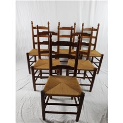 E. A. Clore Ladder Back Dining Side Chairs No. 73c