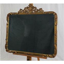 LARGE ORNATE GILDED MIRROR, URN, ACANTHUS LEAVES