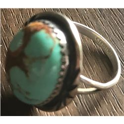 Jewelry - Vintage Sterling Silver and Turquoise Ring
