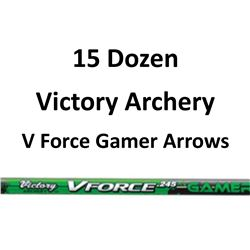 15 Doz V Force 600 Gamer Arrows