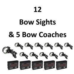 12 Bow Sights & 5 Bow Coachs