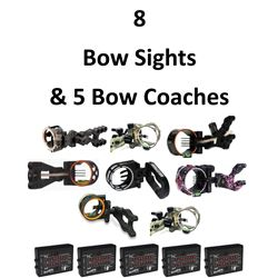 8 x Sights & 5 Bow Coachs