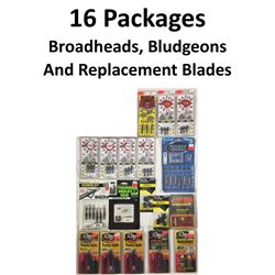 16 x Broadheads & 2 Bludgeons