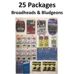 25 x Broadheads & 5 Bludgeons