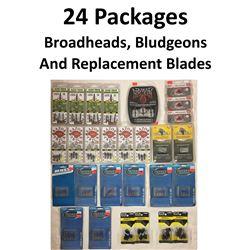 24 x Broadheads & 4 Bludgeons