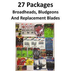 27 x Broadheads, Repl. & Practice