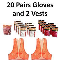 15 x Pair Gloves & 2 Vests