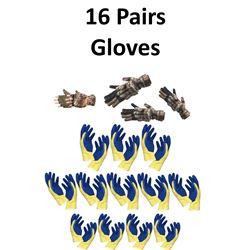 16 x Pair Gloves