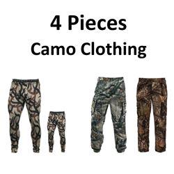 4 x Camo Hunting Clothing