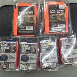 BLAZE ORANGE SAFETY CAPS