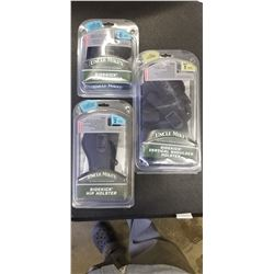 UNCLE MIKES SIDEKICK HIP HOLSTER SIZE 0, 1, AND 2