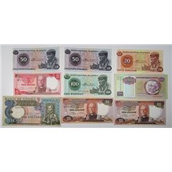Banque de l'Algerie, Banco Nacional de Angola, and Others. 1930s-1970s. Lot of 20 Issued Notes.