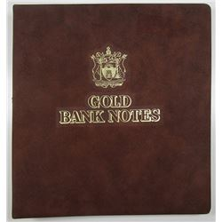 Government of Antigua and Barbuda. ND (1983) Set of 30 Gold Foil Notes.