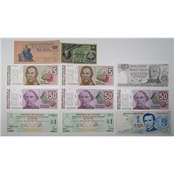 Banco Central de la Republic Argentina & Others. 1884-1990s. Lot of 21 Issued Notes.